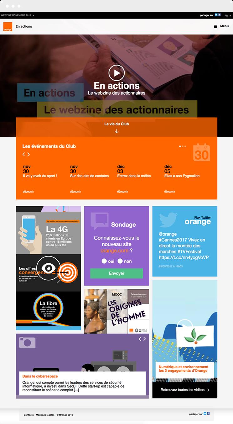 webzine orange vue desktop