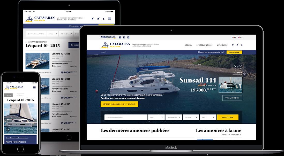 Catamaran occasion vue Webresponsive