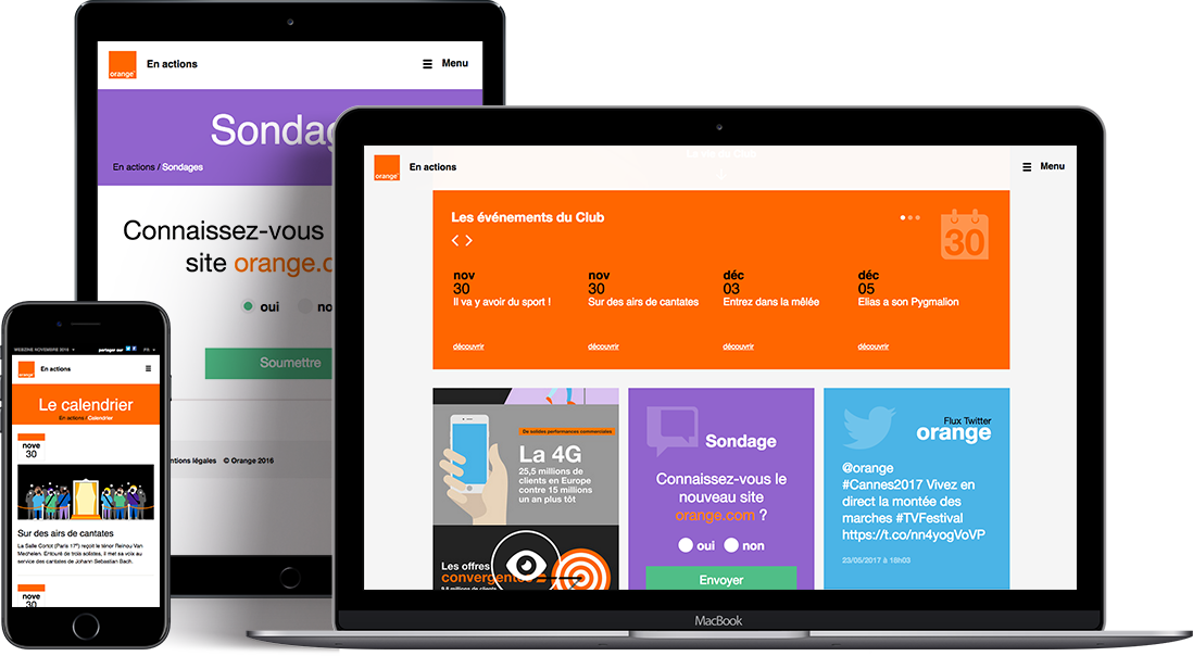 webzine orange vue responsive