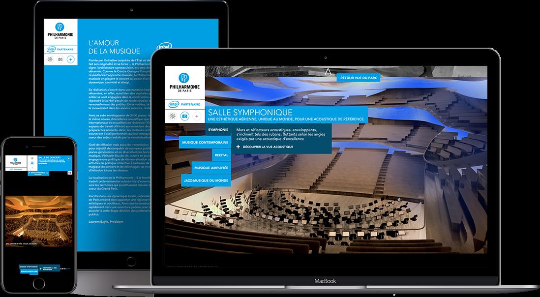 Philharmonie vue webresponsive